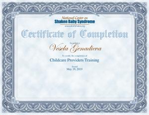 Childcare Providers certificate-1