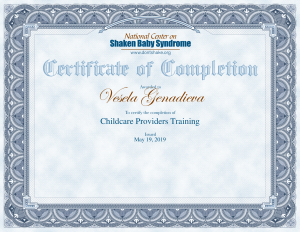 Childcare Providers certificate-1